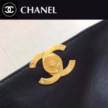CHANEL-01107 春夏新款進口羊皮全鋼五金鏈條口蓋包女士斜挎包
