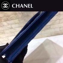 CHANEL-01109-2 古巴度假新款胎牛皮V格彩線WOC發財包斜紋經典鏈條包斜挎包