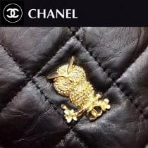 CHANEL-01113 限量版新款徽章新品復古胎牛皮金屬裝飾WOC鏈條挎包