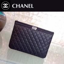 CHANEL-01105 原單最新款圍鏈胎牛皮時尚手包信封包
