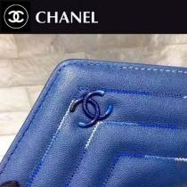 CHANEL-84232-2 春夏新款羊皮拼色菱格紋女士潮流三折短款錢夾