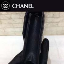 CHANEL-01109-3 古巴度假新款胎牛皮V格彩線WOC發財包斜紋經典鏈條包斜挎包
