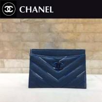 CHANEL-01108-2 春夏新款胎牛皮柔軟舒適精緻樹脂雙C彩扣雙色繡線卡包