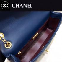 CHANEL-01114 限量版新款經典CF菱格牛皮金屬金扣女士單肩斜挎包