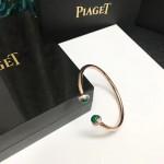 PIAGET飾品-03-3 時尚單品女士孔雀石材質電鍍18k金開口手鐲