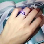 Tiffany飾品-08-2 人氣經典款六爪925純銀人工水鑽訂婚鑽戒