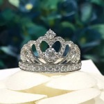 Tiffany飾品-011 官網同步925純銀皇冠進口鋯石鑲鑽鑽戒