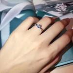 Tiffany飾品-08-3 人氣經典款六爪925純銀人工水鑽訂婚鑽戒
