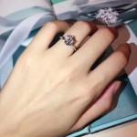 Tiffany飾品-08 人氣經典款六爪925純銀人工水鑽訂婚鑽戒