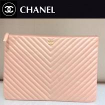 CHANEL-01120-2 新款古巴早春度假系列V格胎牛皮女士手包信封包