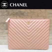 CHANEL-01119-2 新款古巴早春度假系列V格胎牛皮女士手包信封包