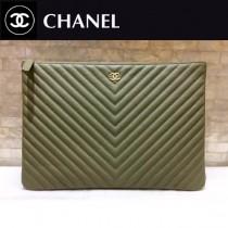 CHANEL-01120 新款古巴早春度假系列V格胎牛皮女士手包信封包