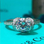Tiffany飾品-016 蒂芙尼新款上市925純銀鑲嵌進口鋯石結婚鑽戒