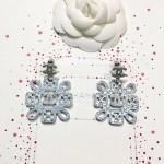 CHANEL 飾品-015 17年最新款黃銅施華洛水晶耳環