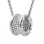 Bvlgari飾品-023-3 寶格麗小蠻腰925鍍金版本八心八箭滿鑽彈簧項鏈
