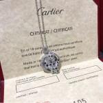 Cartier 飾品-005 豹子祖母綠寶石卡地亞經典情侶款925純銀亞金吊墜項鏈
