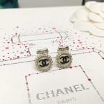 CHANEL 飾品-016-2 最新款女神必備鑽石款雙C系列耳釘
