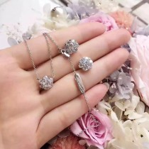 Van Cleef&Arpels飾品-013 網紅同款925純銀材質鑽石項鏈鎖骨鏈
