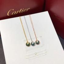 CARTIER飾品-019 專櫃新品925純銀電鍍五金孔雀石材質護身符項鏈
