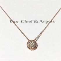 Van Cleef&Arpels飾品-016 專櫃新品Perlée系列925純銀圓珠鑲鑽項鏈鎖骨鏈