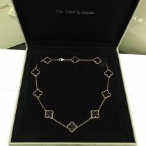 Van Cleef&Arpels飾品-015-6 專櫃同款925純銀咪金電鍍經典四葉草十花項鏈