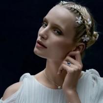 Van Cleef&Arpels飾品-016-2 專櫃新品Perlée系列925純銀圓珠鑲鑽項鏈鎖骨鏈