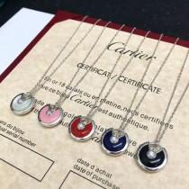CARTIER飾品-019-4 專櫃新品個性百搭925純銀電鍍五金護身符項鏈