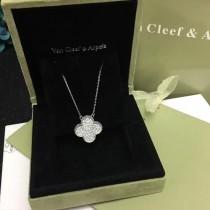 Van Cleef&Arpels飾品-010-4 潮流爆款女士VCA925純銀材質鑲鑽四葉草項鏈