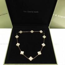Van Cleef&Arpels飾品-015-5 專櫃同款925純銀咪金電鍍經典四葉草十花項鏈