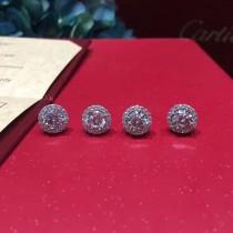 CARTIER飾品-021 高貴優雅新品925純銀八心八箭一克拉鑽石耳釘