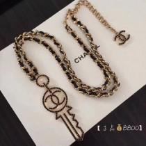 CHANEL飾品-045 人氣熱銷925純銀搭配施華洛世奇黑水晶黃銅材質鑰匙胸針掛鏈