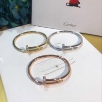 CARTIER飾品-020 人氣爆款925純銀亞金材質帶鑽釘子手鐲