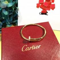 CARTIER飾品-020-2 人氣爆款925純銀亞金材質帶鑽釘子手鐲