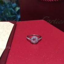 CARTIER飾品-022 高貴優雅新品925純銀八心八箭一克拉鑽石戒指