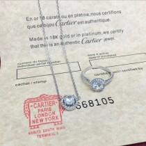 CARTIER飾品-023 高貴優雅新品925純銀八心八箭一克拉鑽石項鏈