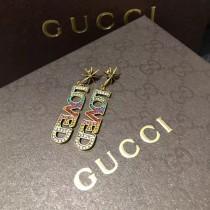 GUCCI 飾品-041 2017年最火爆LOVE漸變色系列黃銅電鍍18K全手工鑲鑽大號耳釘
