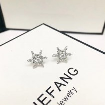 HEFANG 飾品-043-2 2017年最新款925純銀帶鑽耳釘