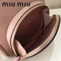 MIUMIU 5BZ013-2 頂級進口馬德拉斯山羊皮頂級拉絲五金製作皮革新款背包