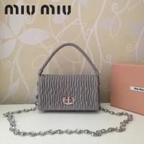 MIUMIU 5BH012 原版進口綿羊皮施華洛世奇水晶可拆卸式編織手挽帶鑽石鏈條手提單肩斜挎包