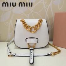 MIUMIU 5BD020 原版進口牛皮山羊紋金色五金劉雯同款手提單肩斜挎包