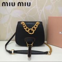 MIUMIU 5BD020-5 原版進口牛皮山羊紋金色五金劉雯同款手提單肩斜挎包