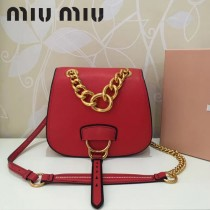 MIUMIU 5BD020-3 原版進口牛皮山羊紋金色五金劉雯同款手提單肩斜挎包