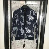 LV衣服-01 路易威登專櫃走秀款動物世界系列男士秋季休閒棒球領夾克外套