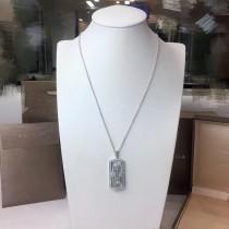 BVLGARI-0001-2 亞金電鍍18K金回形貝殼鑲嵌進口高碳鉆情侶項鏈