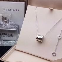 BVLGARI-0005-3 寶格麗B.ZEROI系列經典白金高端亞金材質可擠壓彈簧項鏈