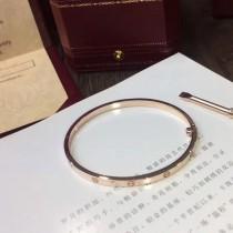 Cartier-00002 卡地亞官方最新發佈亞金電鍍18K玫瑰金無鑽款螺絲釘窄版LOVE手鐲