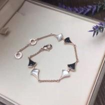 BVLGARI-0008 寶格麗珠寶diva系列小裙子新款黑瑪瑙白貝母扇形手鏈