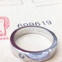 Cartier-00004-2 卡地亞經典專櫃logo款亞金電鍍18K金白金字母logo單鉆戒指