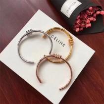 CELINE-01 塞琳亞金材質白金枚金黃金三色新款繩結手環打結手鐲