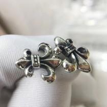 Chrome Hearts-003 克羅心亞金材質男女均可佩戴船鋪耳釘